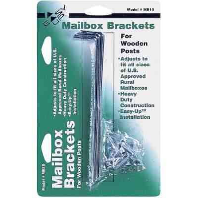 Gibraltar Adjustable Metal Mailbox Bracket (4-Piece)
