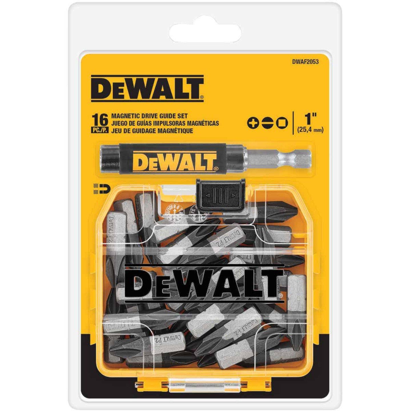 DeWalt 16-Piece Magnetic Drive Guide Screwdriver Bit Set w/ToughCase+ Image 1