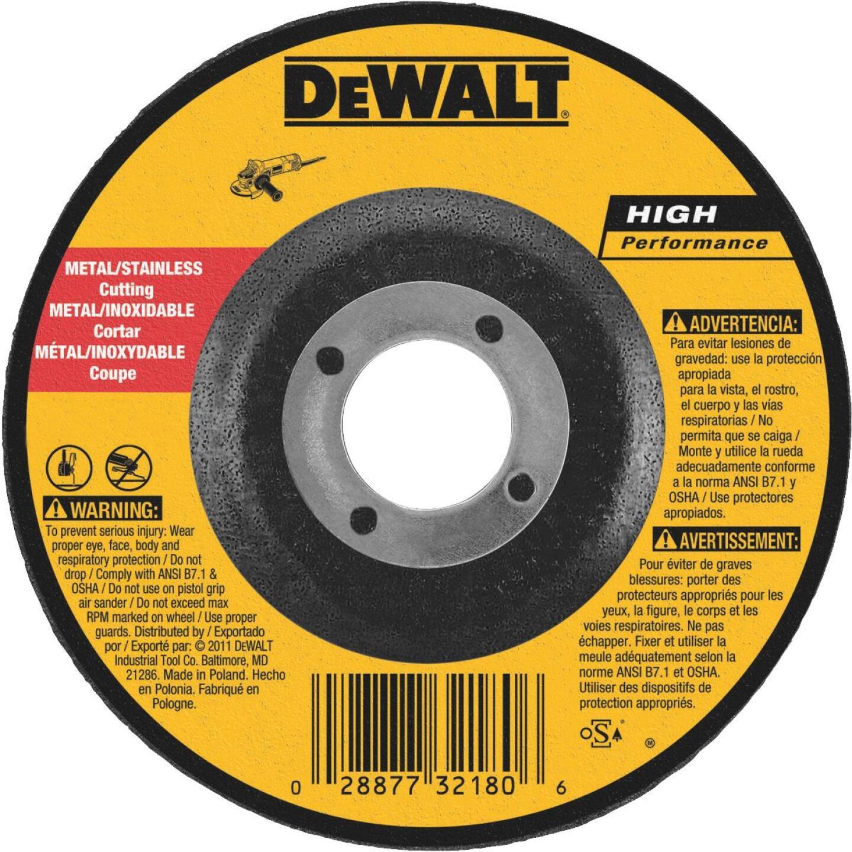 DeWalt HP Type 27 5 In. x 0.045 In. x 7/8 In. Metal/Stainless Cut-Off Wheel Image 1