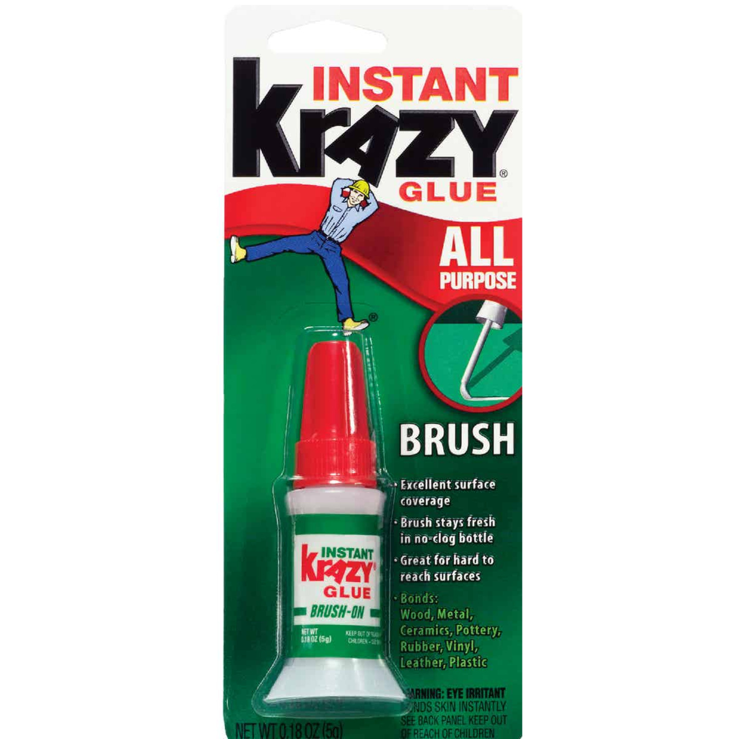 Krazy Glue 0.18 Oz. Liquid All-Purpose Super Glue with Brush Image 1