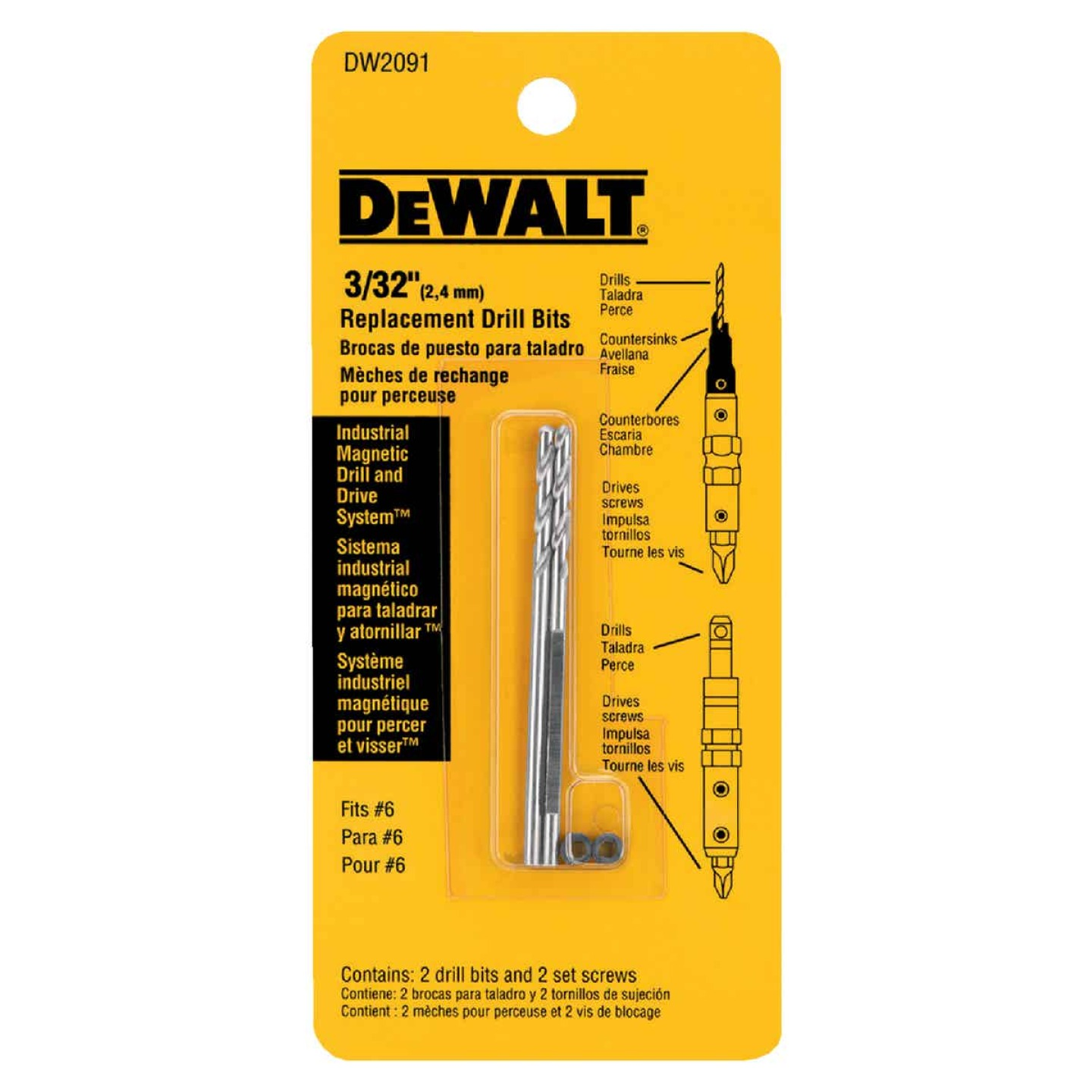 DeWalt #6 Black Oxide Drill & Drive Replacement Drill Bit (2-Pack) Image 2