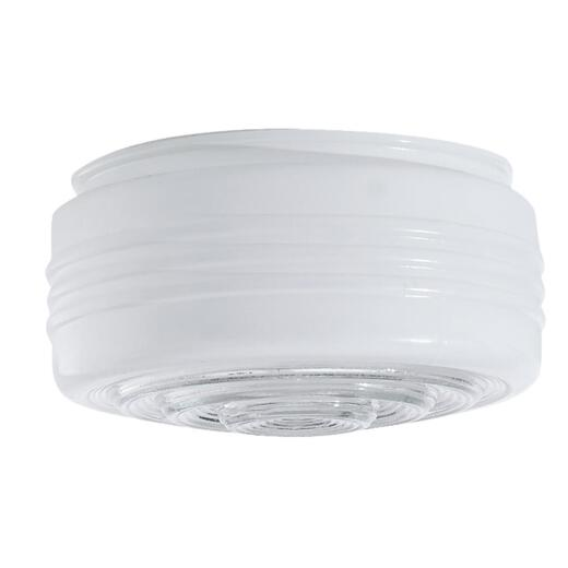 Westinghouse White & Clear 3-3/8 In. x 6-1/2 In. Drum Ceiling Shade