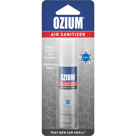 Ozium 0.8 Oz. Car Air Freshener/Sanitizer Spray, New Car Scent