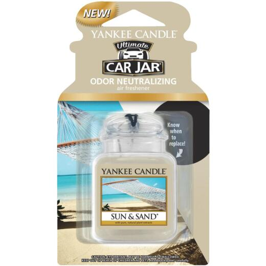 Yankee Candle Car Jar Ultimate Car Air Freshener, Sun & Sand