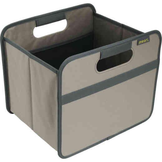 Meori 1-Compartment Stone Gray Foldable Reusable Box