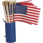 Valley Forge 4 In. x 6 In. Polycotton Stick American Flag Image 1