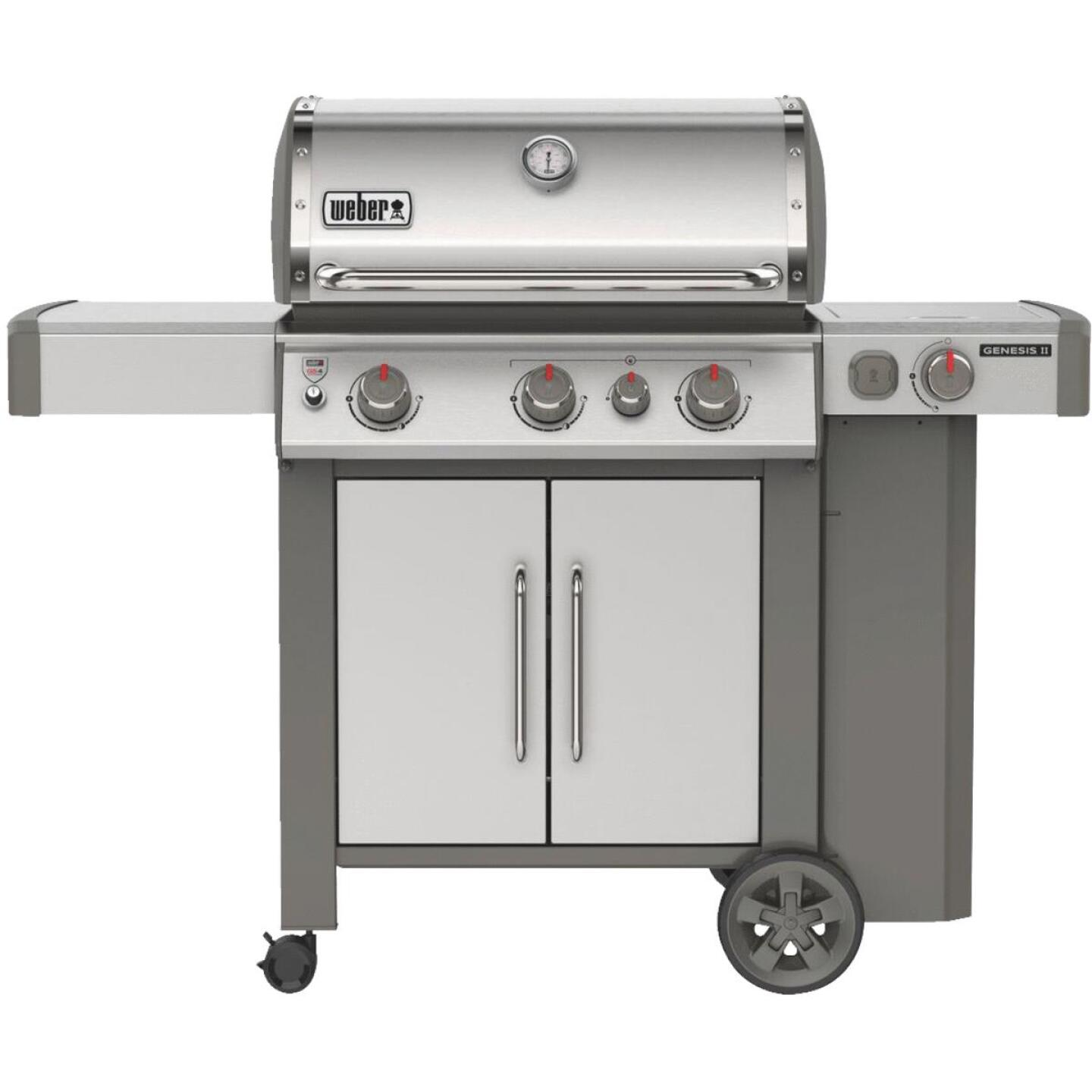 Weber Genesis II S-335 3-Burner Stainless Steel 39,000 BTU LP Gas Grill with 12,000 BTU Side Burner Image 1